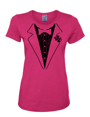 Funny Tuxedo Women's T-Shirt Groom Wedding Bachelor Party Drinking Tee Shirt - Tee Hunt - 5
