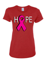 Hope Breast Cancer Awareness Women's T-Shirt Pink Ribbon Survivor Cure Fight Cancer Tee Shirt - Tee Hunt - 3