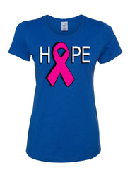 Hope Breast Cancer Awareness Women's T-Shirt Pink Ribbon Survivor Cure Fight Cancer Tee Shirt - Tee Hunt - 4