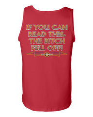 If You Can Read This, The Bitch Fell Off Tank Top Funny Biker Motorcycle MC Route 66 Gym Workout - Tee Hunt - 6