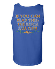 If You Can Read This, The Bitch Fell Off Tank Top Funny Biker Motorcycle MC Route 66 Gym Workout - Tee Hunt - 5