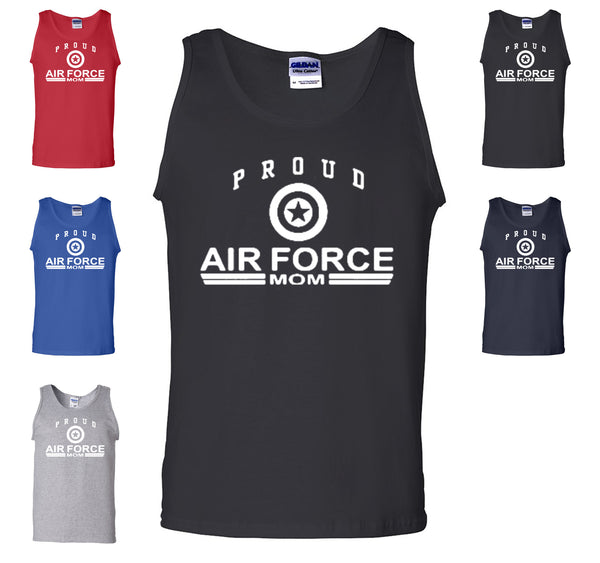 Proud Air Force Mom Tank Top US Air Force Support Our Troops USAF Gym Workout - Tee Hunt - 1