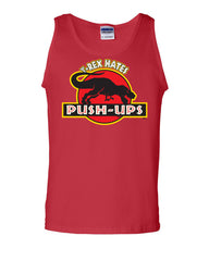 T-Rex Hates Push-Ups Tank Top Funny T Rex Dinosaur Gym Workout Muscle Shirt - Tee Hunt - 5