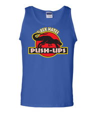 T-Rex Hates Push-Ups Tank Top Funny T Rex Dinosaur Gym Workout Muscle Shirt - Tee Hunt - 3