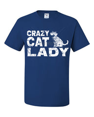 Crazy Cat Lady T-Shirt Funny Pet College Humor Hipster Cat Kitten Tee Shirt - Tee Hunt - 7