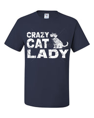 Crazy Cat Lady T-Shirt Funny Pet College Humor Hipster Cat Kitten Tee Shirt - Tee Hunt - 9