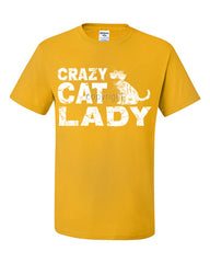Crazy Cat Lady T-Shirt Funny Pet College Humor Hipster Cat Kitten Tee Shirt - Tee Hunt - 4