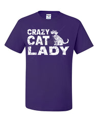 Crazy Cat Lady T-Shirt Funny Pet College Humor Hipster Cat Kitten Tee Shirt - Tee Hunt - 6