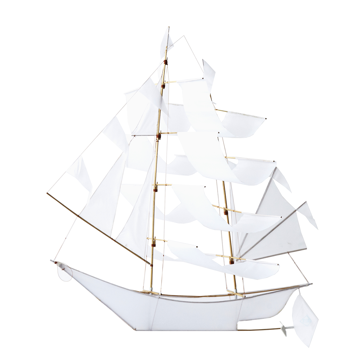 Super Large Sailing Ship Kite - White