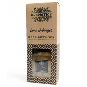 Essential Oil Reed Diffuser: Lime & Ginger - 200ml