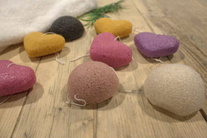Natural Japan-Style Konjac Beauty Sponge - Rose Heart