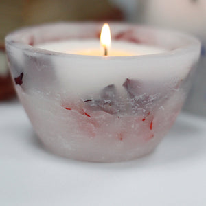 Enchanted Candle: Large Bowl - Rose