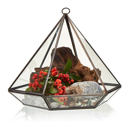 Glass Terrarium - Large Diamond