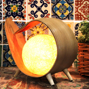Natural Coconut Lamp - Natural Wrapover