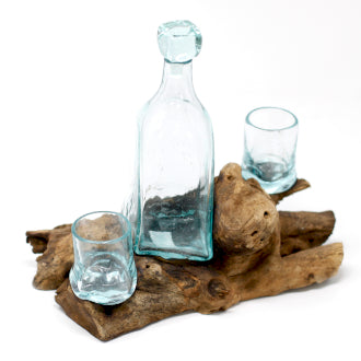 Molten Glass on Wood - Whisky Set