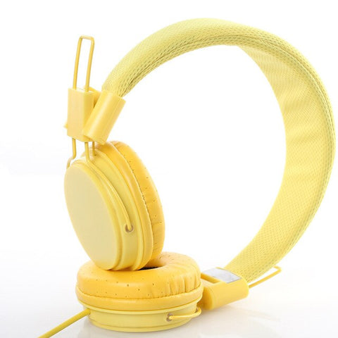 Hype Stereo Casque Jaune
