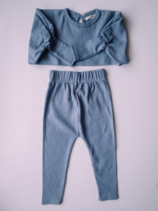 Toddler Dolly and Me Set in Steel Blue