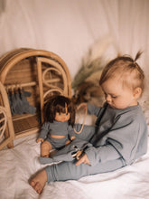 Load image into Gallery viewer, Toddler Dolly and Me Set in Steel Blue