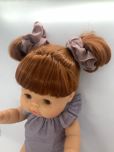 Penny Piggytail Dusty Rose Scrunchie Set