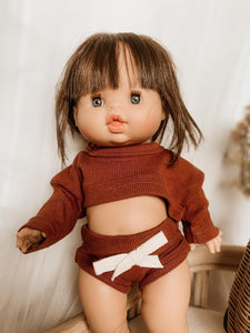 Dolly Rust Lounge Shortie Set