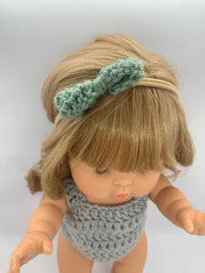 Soho Bow Headband in Sage