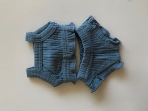 Toddler Summer Lounge Short Set in Seagrass Blue