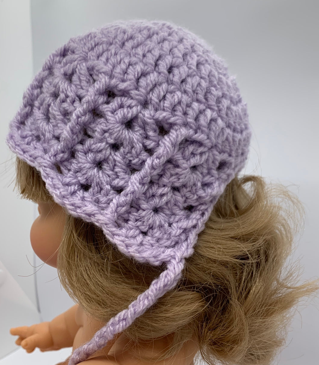 The Wave Bonnet in Lilac