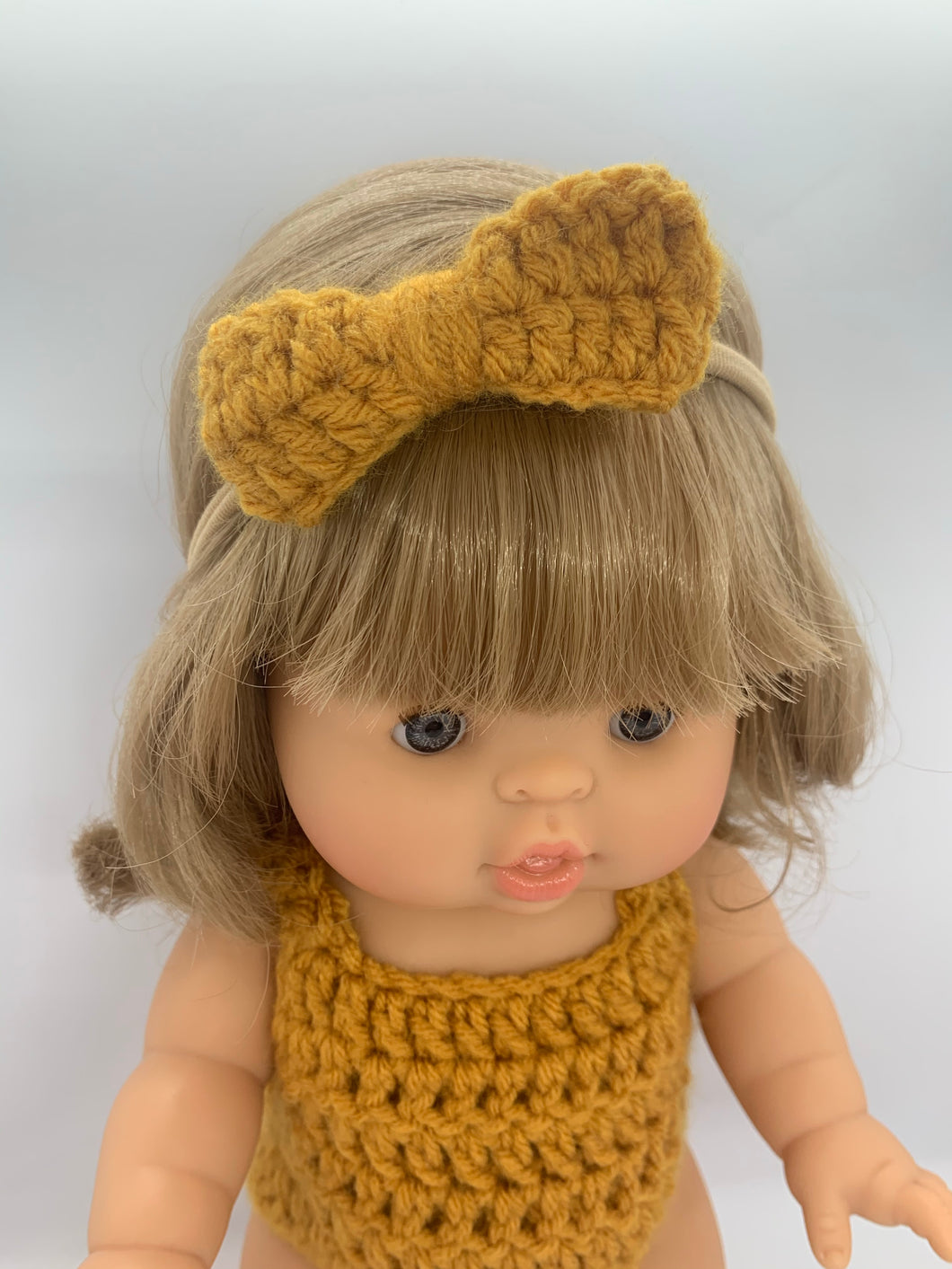 Soho Bow Headband in Mustard