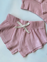 Load image into Gallery viewer, Toddler Dolly and Me Lounge Short Set in Nude Pink