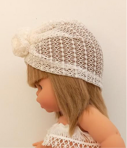 Isla Pearl Embroidered Lace Couture Turban
