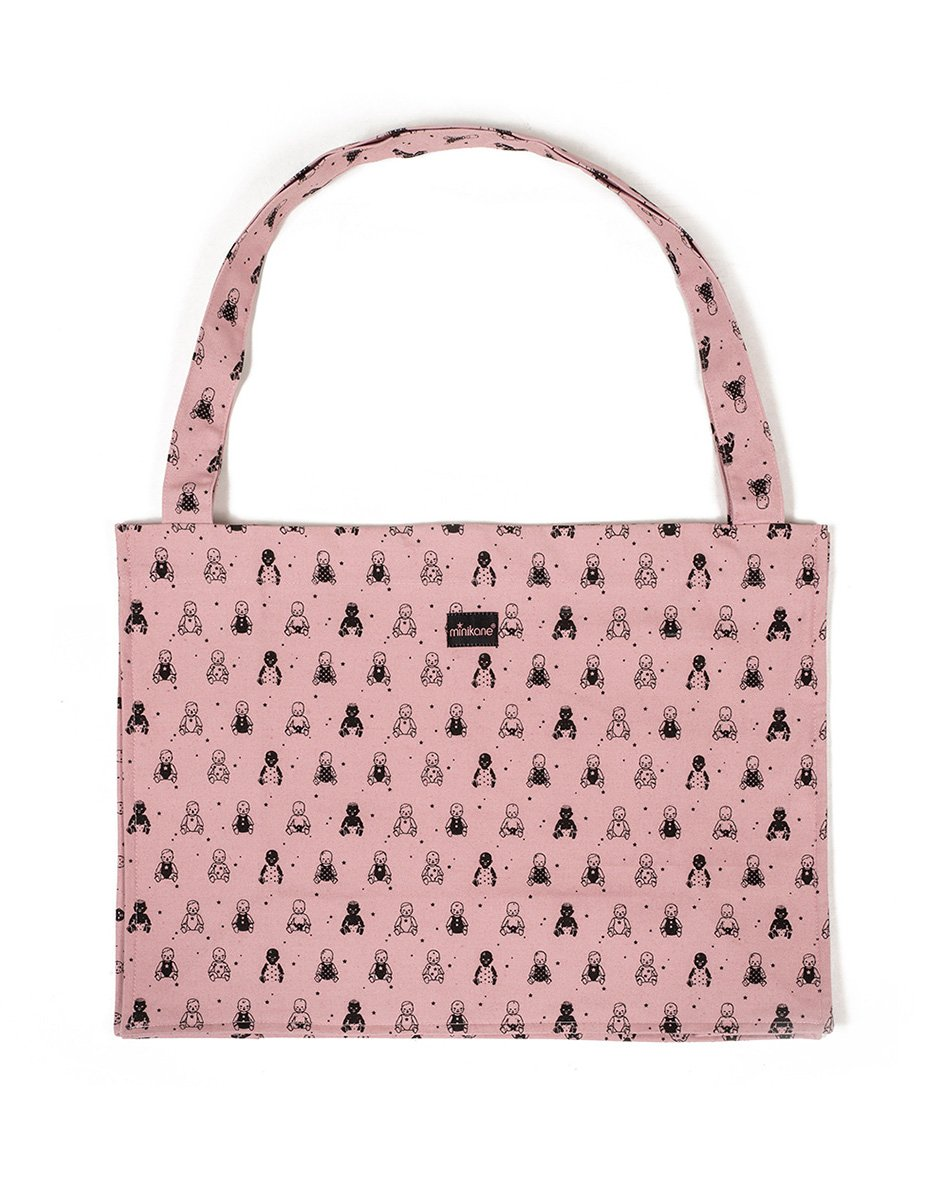 Minikane Powder Pink Tote Bag
