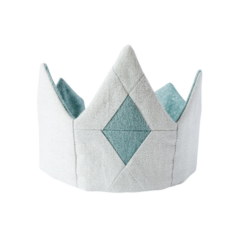 Disney princess elsa crown for princess costume, handmade quilted front, made from organic cotton shimmer fabric