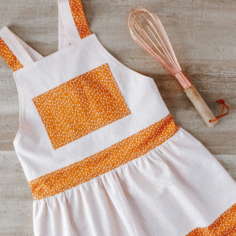 Cinnamon Reversible Pinafore Apron