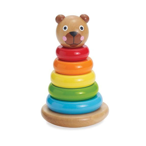 Magnetic Bear Wooden Stacker