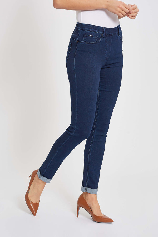 Faith Turnup Slim Jeans - Denim Washed
