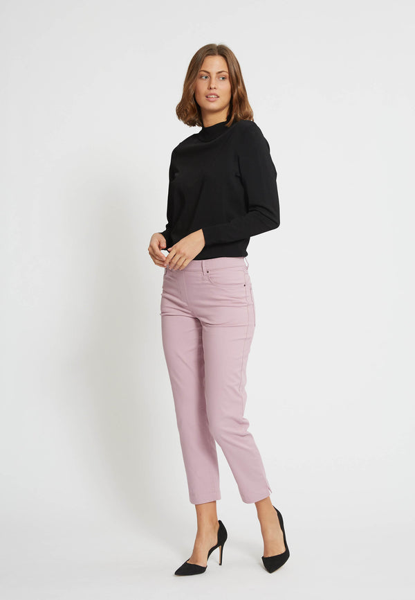 Hannah Regular Bukser Cropped - Soft Purple