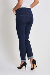Hannah Turnup Regular Jeans - Denim Washed