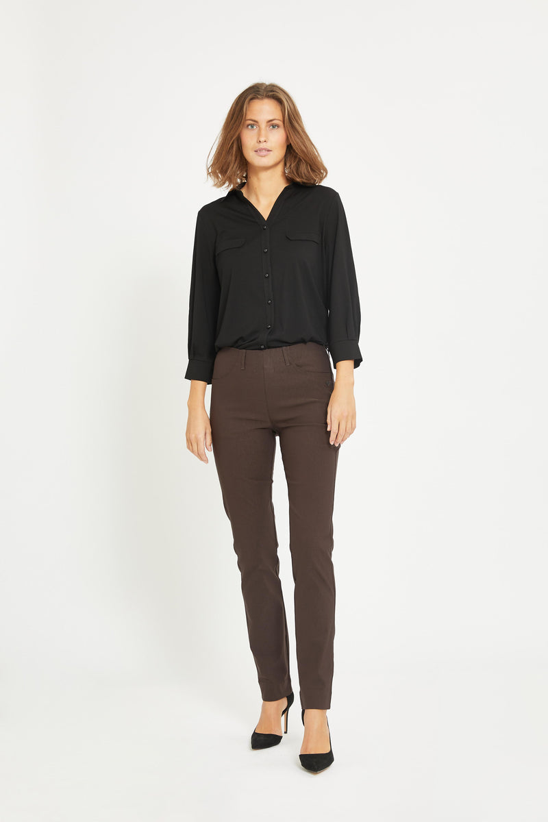 Kelly Regular Bukser - Warm Brown