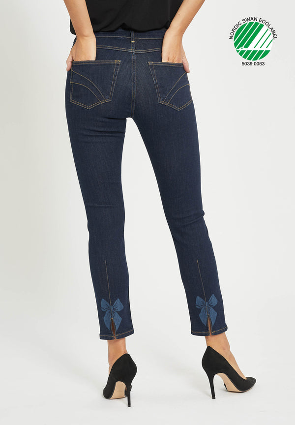 Laura Bow Slim XSL - Dark Blue Denim