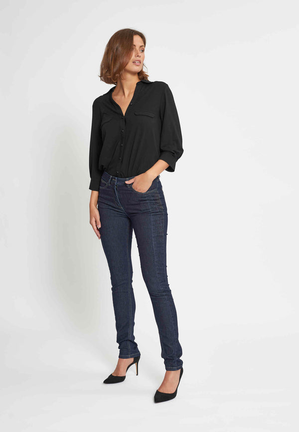 Laura Hot Slim ML - Dark Blue Denim