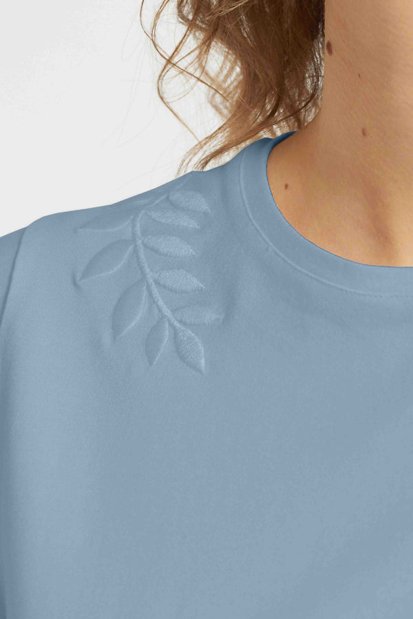 Loren - Faded Blue Embroidery