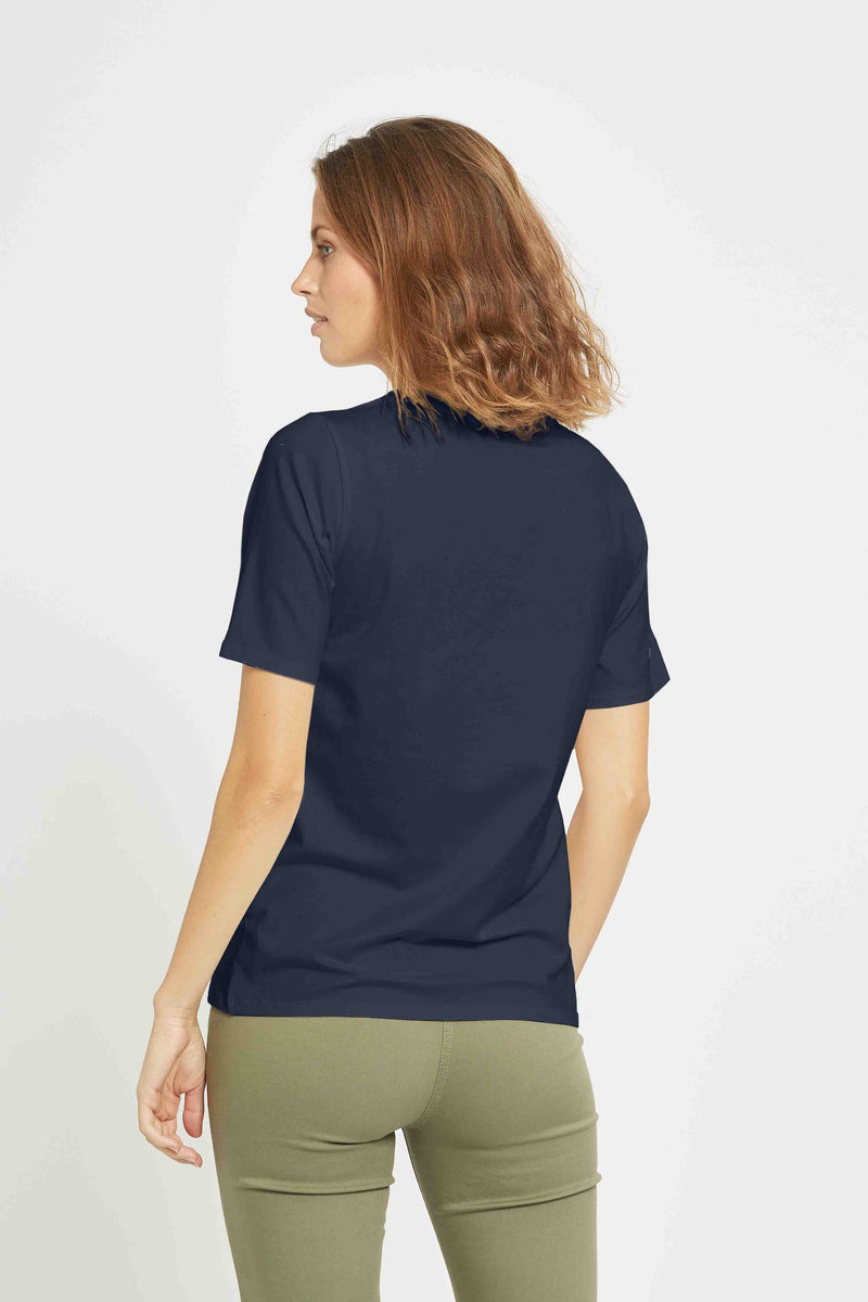 Loren - Navy Embroidery