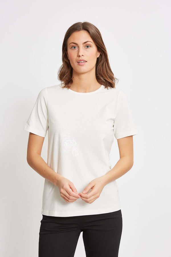 Loren Flower T-shirt - Off white