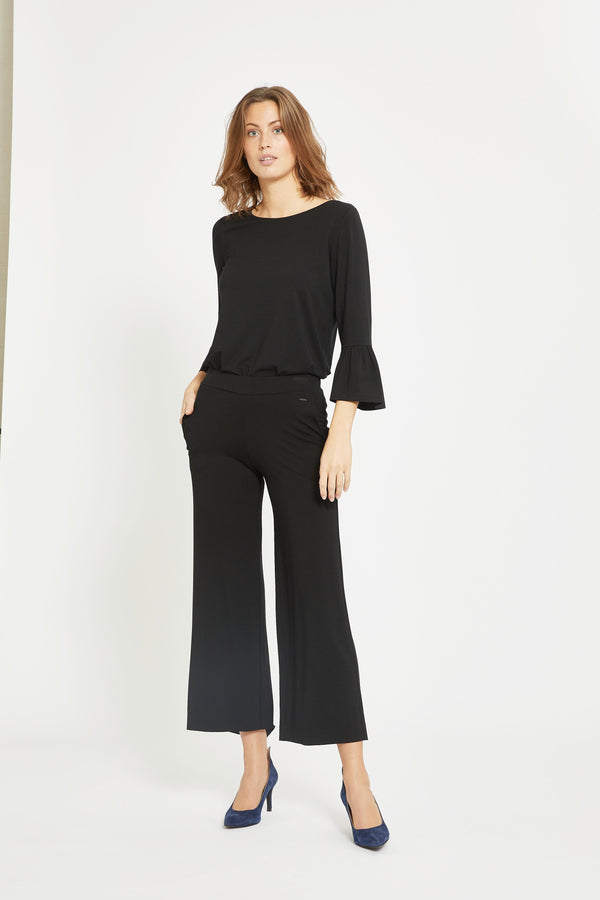Luna Loose Crop - Black