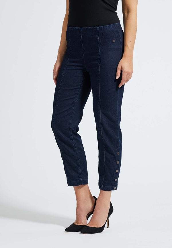 Polly Regular Cropped Jeans - Dark Blue Denim