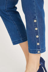 Polly Regular Cropped Jeans - Medium Blue Denim