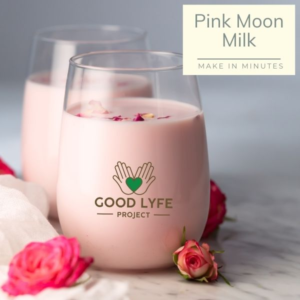 Buy Ashwagandha Moringa Amla Combination Powder Pack Certified organic India made Pink Moon Milk Recipe Good Lyfe Project