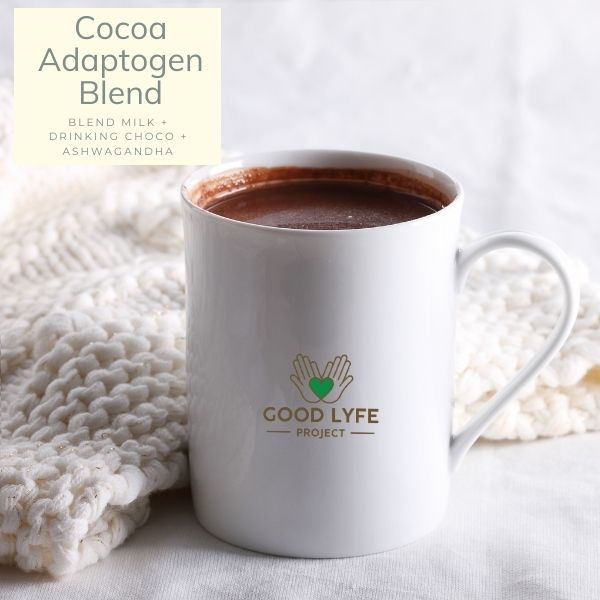Buy Ashwagandha Moringa Amla Combination Powder Pack Certified organic India made Hot Chocolate Recipe Good Lyfe Project