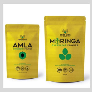 Buy Online Good LYfe Project Moringa Amla Powder Certified Organic India Made
