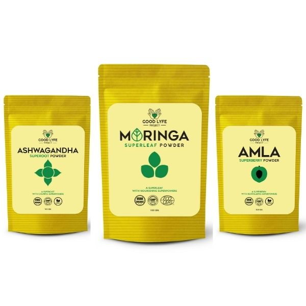 Organic Ashwagandha Amla and Moringa Combo Pack: Junior Champions League